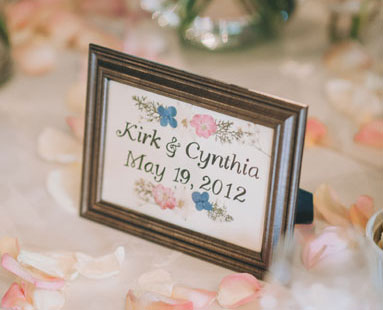 Wedding Table Numbers & Escort Cards
