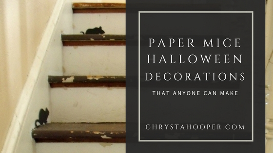Paper Mice Halloween Decorations That Anyone Can Make